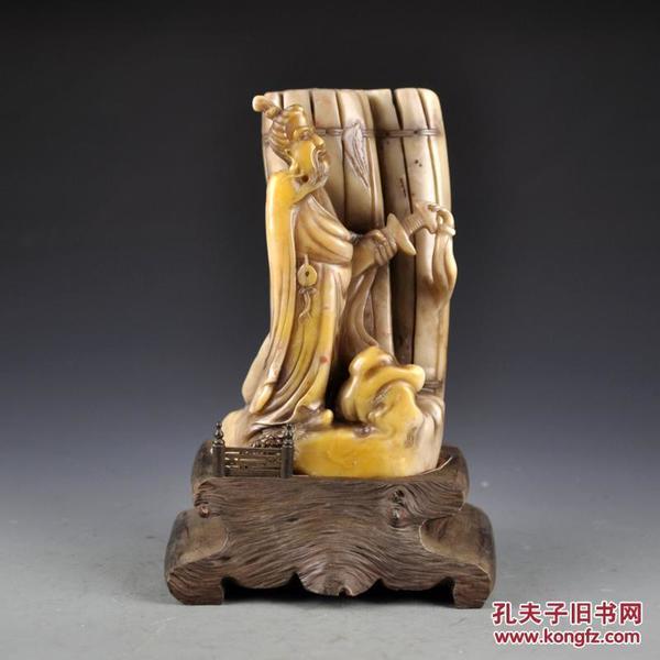 清  寿山石人物摆件