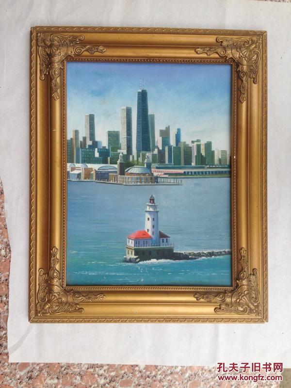 (清仓)名家油画--背有签名--出自名家之手--尺寸为画心尺 寸-品相如图--带框邮寄