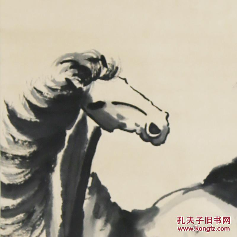 徐悲鴻 馬 中堂畫真手工繪國畫風景山水人物名人字畫裝飾畫