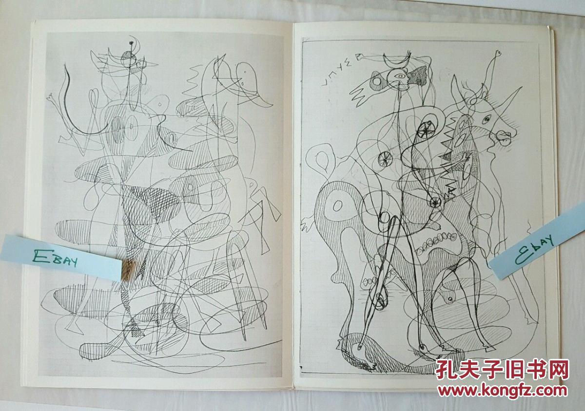 现代绘画大师,立体主义绘画创始人之一勃拉克的艺术作品,1955年出版图片
