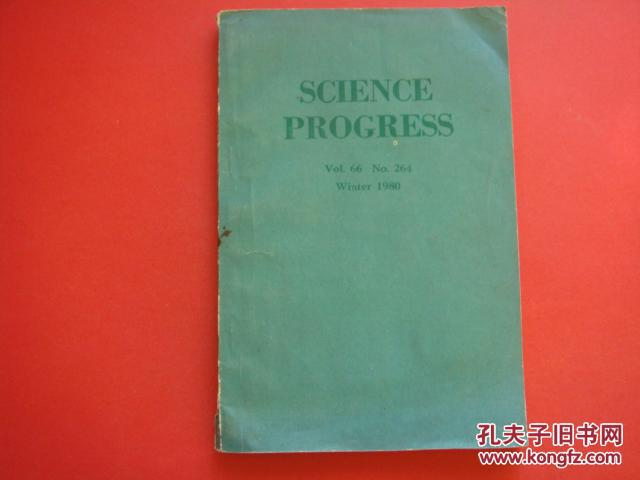 SCIENCE PROGRESS Vol.66 No.264 Winter1980