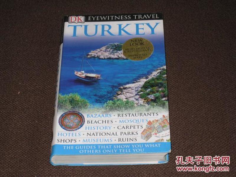 TURKEY 英文原版:  土耳其旅游功略(全彩色小画册)小16开本