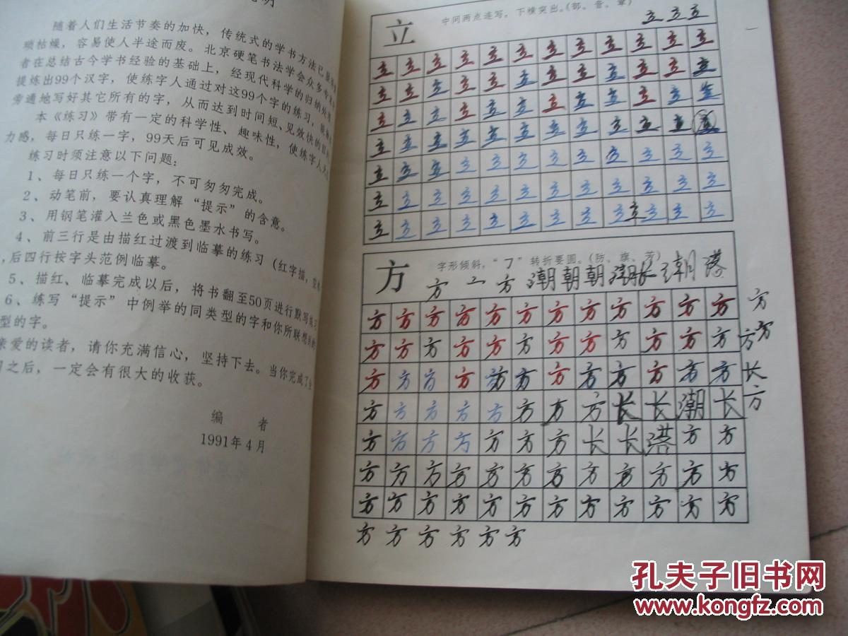 行書 鋼筆字速成練習法 99天圖片