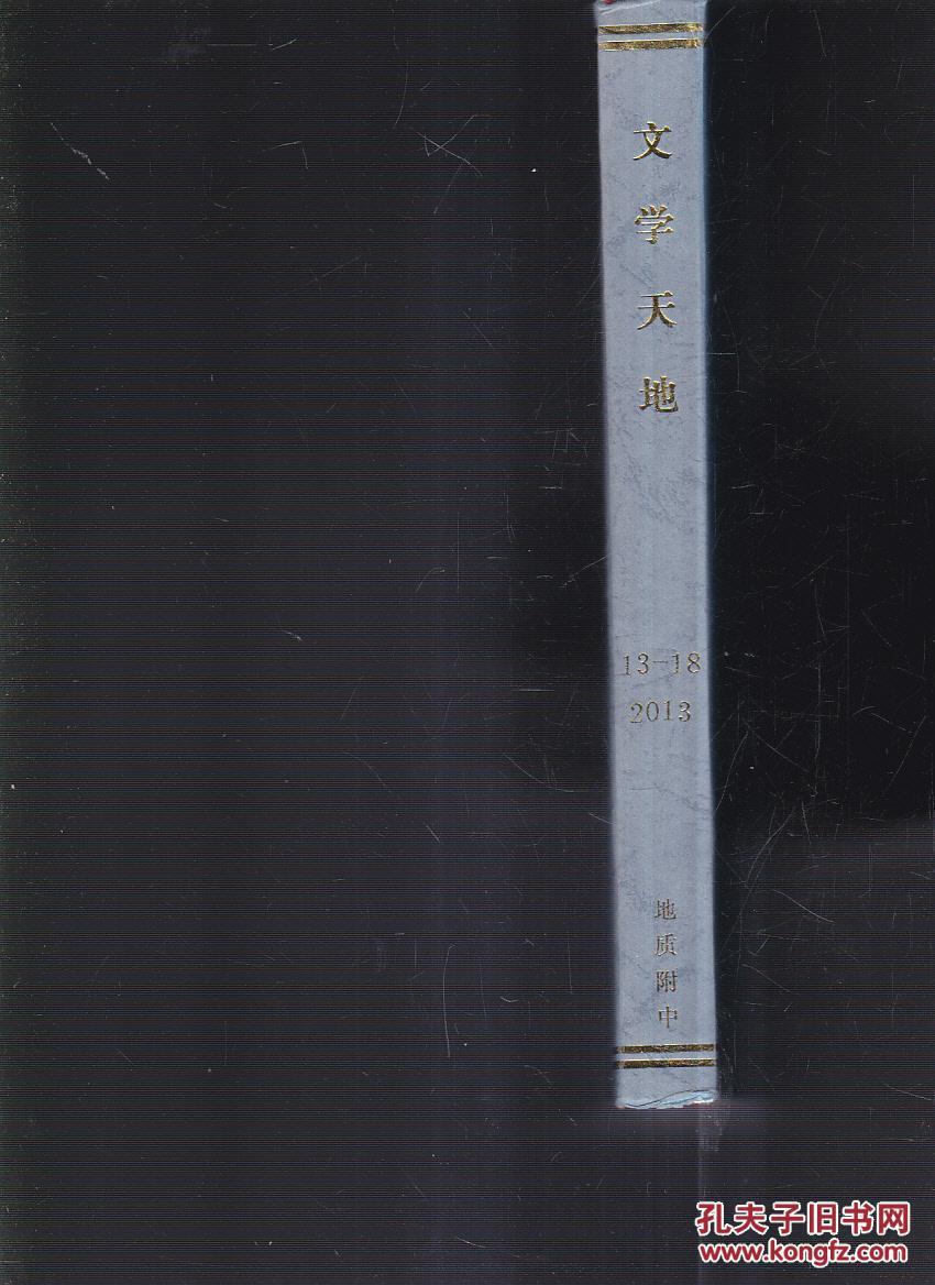 之文学天地全集_文学天地2013年(13-18期合订本杂志)