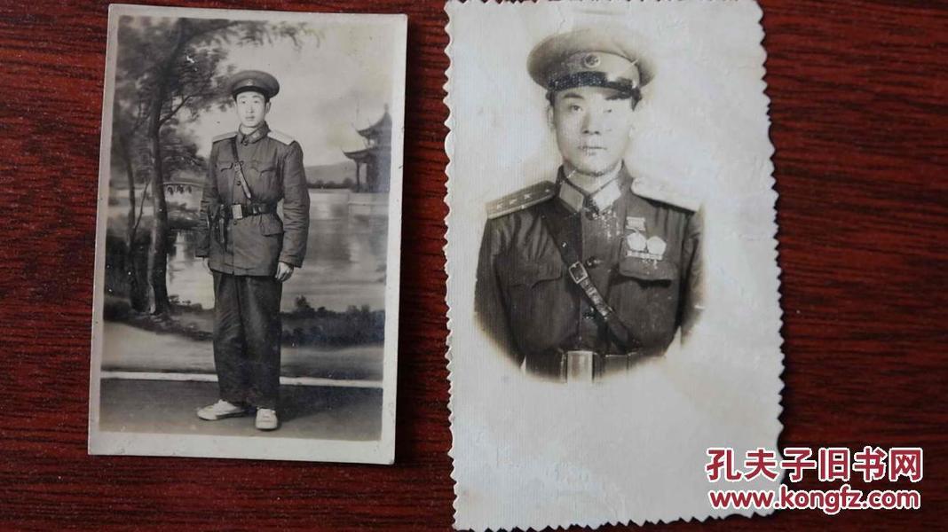解放军老照片.....2张合拍 .............