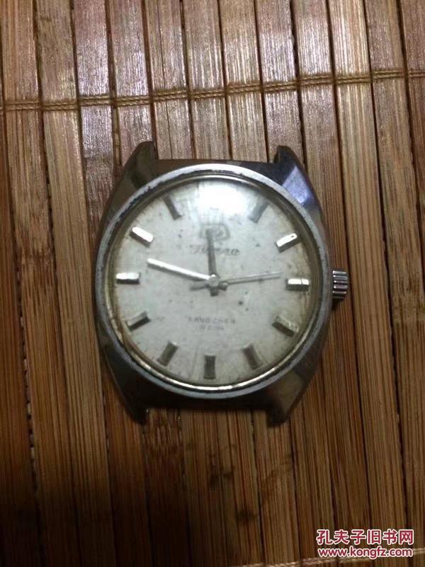青岛男式全钢机械手表(走时正常)