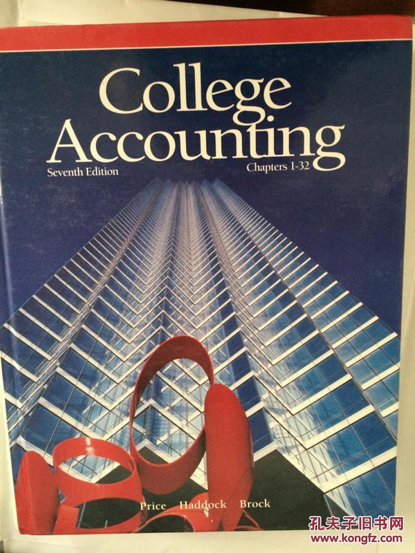 【全国运费6元起】College Accounting 7 Sub Edition 9780028014418