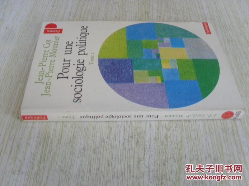 法文原版   Pour une sociologie politique, t.01 (French)