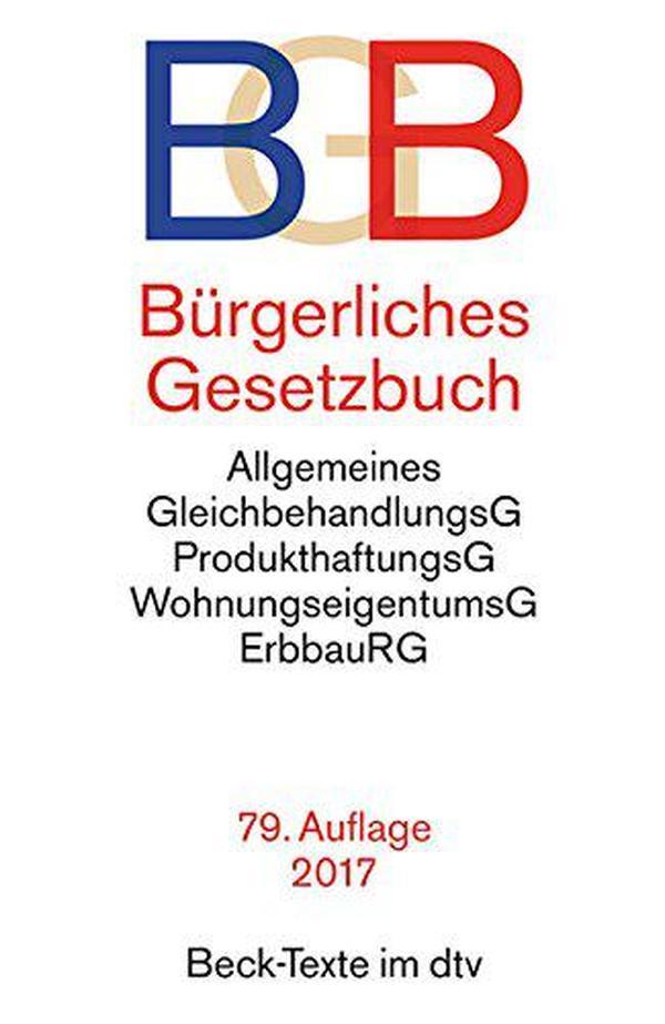 德国原版 德文 德语 Bürgerliches Gesetzbuch BGB 德国民法 2017年第79版
