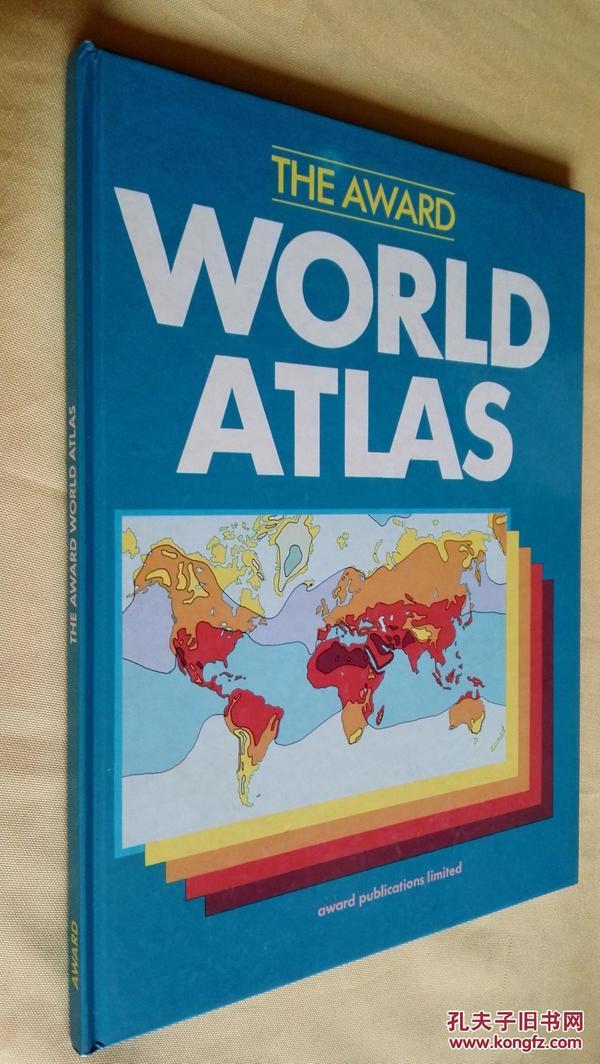 英文原版精装 大画册 The Award World Atlas