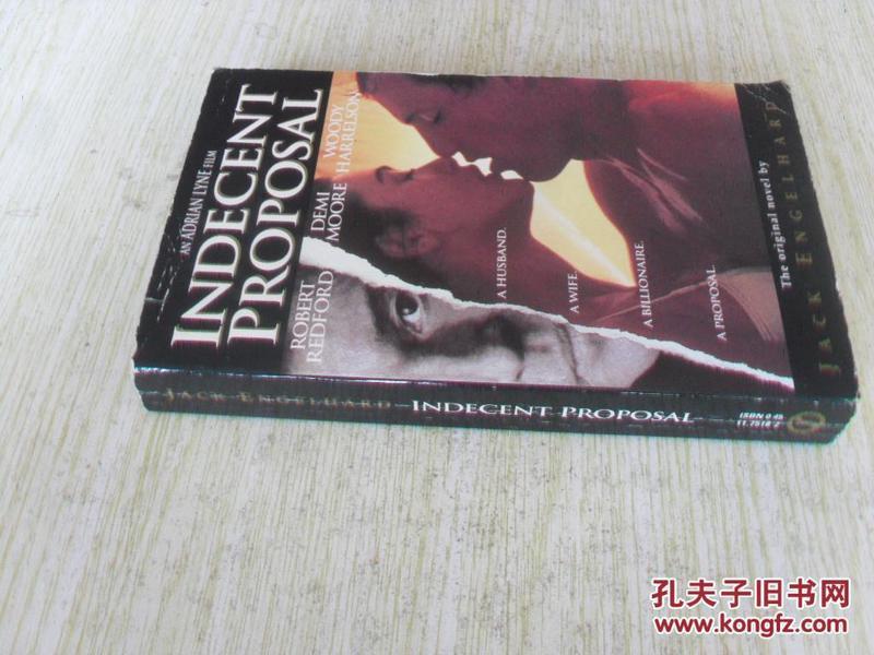 英文原版   Indecent Proposal Paperback