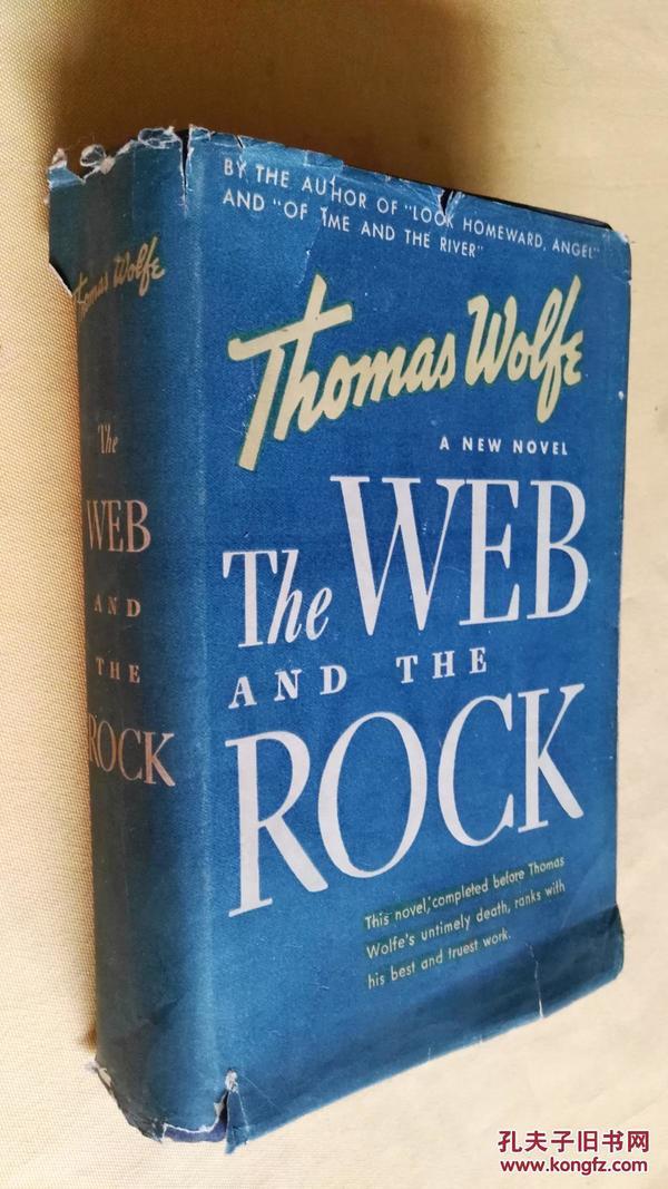 民国旧书 the web and the rock by Thomas wolfe