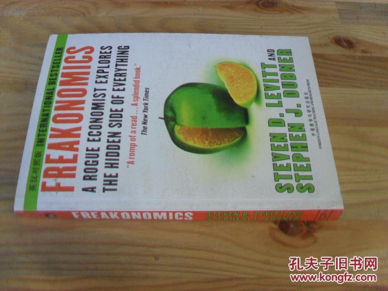 英文原版  Freakonomics: A Rogue Economist Explores the Hidden Side of Everything