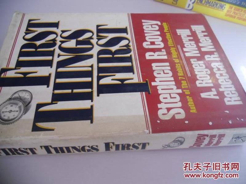英文原版  <要事第一:时间管理>史蒂芬·柯维   First Things First by Stephen R. Covey
