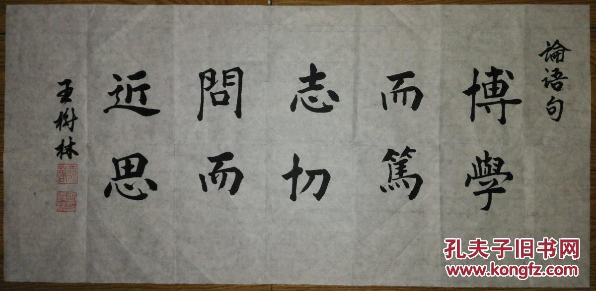 迹书法:王树林楷书《博学而笃志 切问而近思》