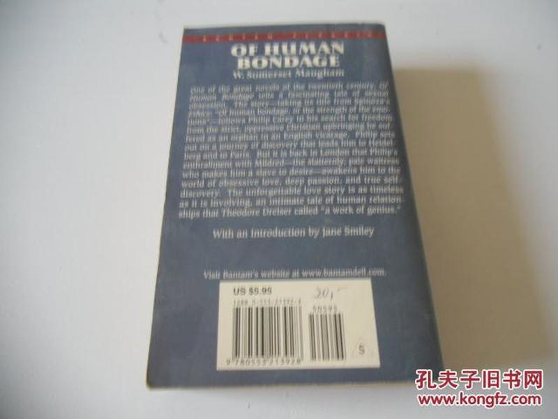 英文原版  Of Human Bondage