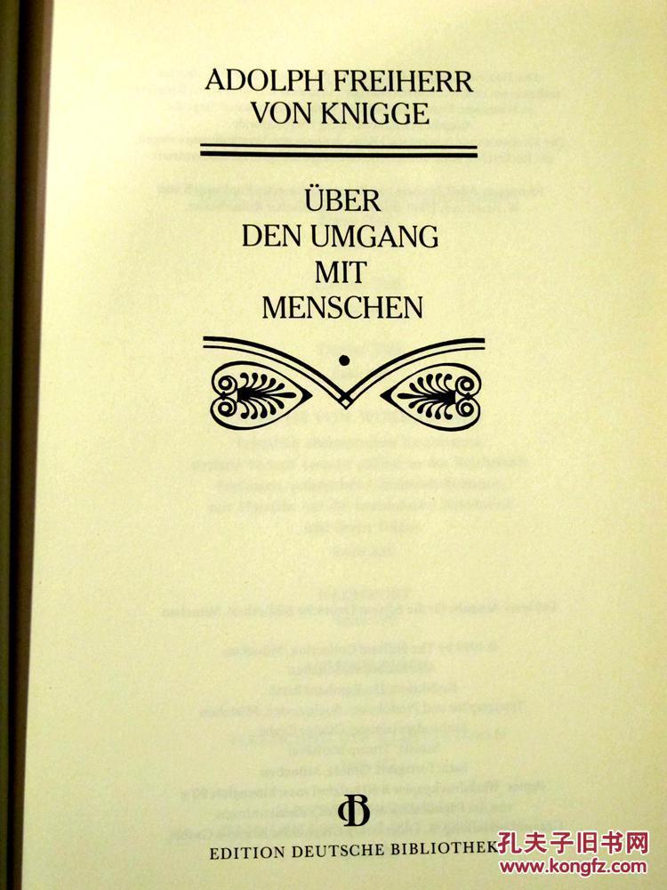 《社交论》,adolph freiherr von knigge <strong>ber</strong> den umgang mit