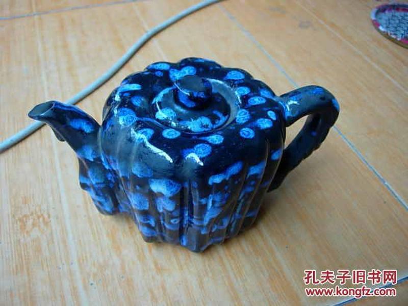 七.八十年代的湖北宜昌彩陶花釉壶(底款:湖北宜昌)