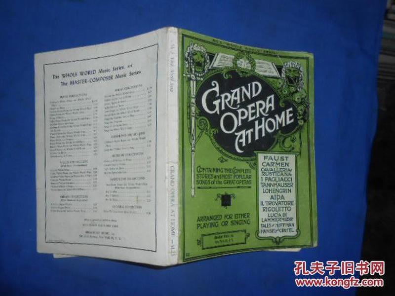 GRAND OPERA AT HOME 外文版(不认识外文 书名等以图片为准 请书友自鉴)扉页有字迹和涂画