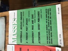 2322:江恒源旧藏英文版《( 1956年 1 3 5 6 MASSES  MAINSTREAM )(1958年5月 MAINSTREAM   》共5册,有一册有江氏图章