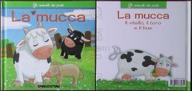 意大利原版书籍-gli animali della fattoria La mucca(精装本)