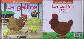 意大利原版书籍-gli animali della fattoria La gallina(精装本)
