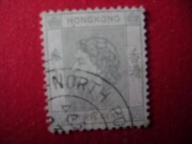 2-15.1954年香港女皇头像邮票贰角