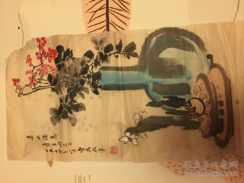 中国戏剧家协会常务理事,北京市文联主席曹禺画作