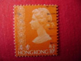2-19.1973年香港女皇头像邮票壹角