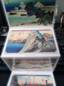 日本浮世绘明信片  一套6张