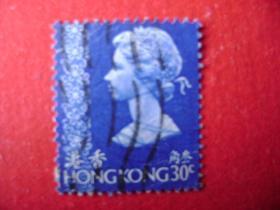 2-20.1973年香港女皇头像邮票叁角