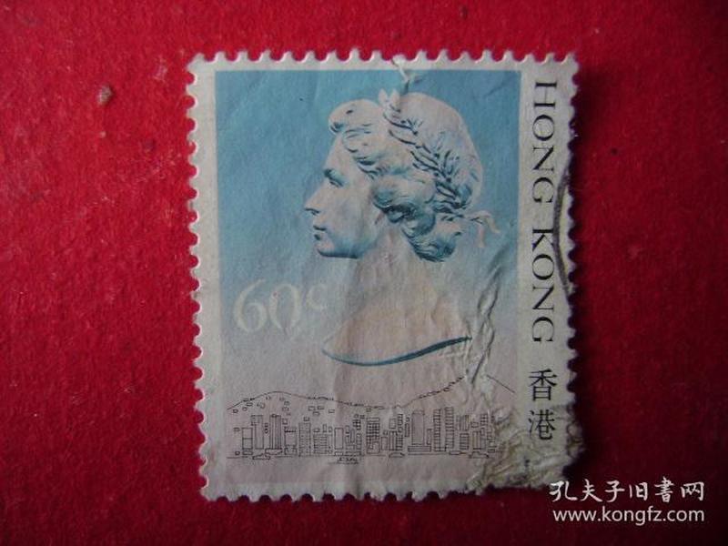 2-23.1988年香港女皇头像邮票60C