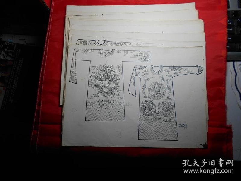 《清代服装》画稿 11张 (佚名 绘)