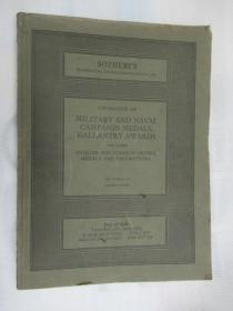 Sothebys Catalogue of Military and Naval Campaign Medals,Gallantry Awards(苏富比海军运动奖章勇士奖章目录)