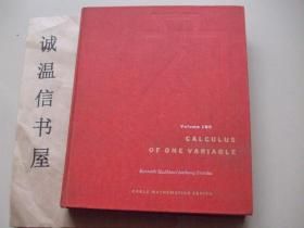 CALCULUS OF ONE VARIABLE【布面精装】