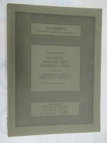 Sothebys Catalogue of Ancient English and Foreign Coins(苏富比古代英国和外国硬币目录)