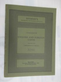 Sothebys Catalogue of English and Foreign Coins .(苏富比英国和外国硬币目录)