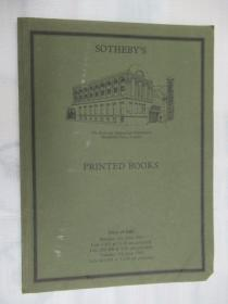 Sothebys Printed Books .(苏富比印刷书籍)