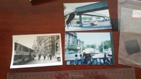 1980年代 上海外滩未发表照片三种,彩色片带柯达反转底片