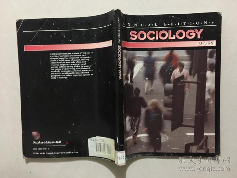ANNUAL EDITIONS SOCIOLOGY 97/98【馆藏】内有画线