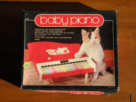 80年代 儿童玩具钢琴 怀旧老玩具 带原盒