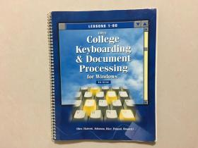 College Keyboarding & Document Processing for Windows TM 8th Edition