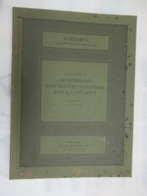 Sothebys  Catalogue of Impressionist and Modern Paintings and Sculpture II(苏富比印象派和现代绘画和雕塑)