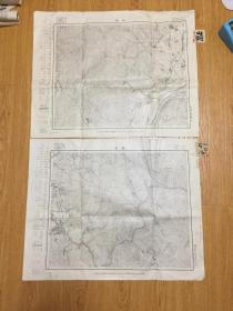 1911年日本地图《宇治》《山崎》两张