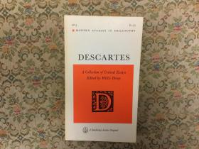 Descartes: A Collection of Critical Essays (Modern Studies in Philosophy) 笛卡尔:评论文集,1967第一版,九品,孔网唯一