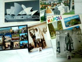 外国明信片多枚 有三枚实寄和三枚新片
