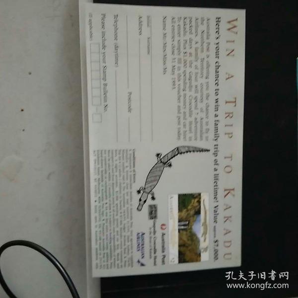 澳大利亚邮票发行宣传单页