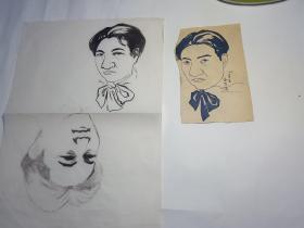 陕西知名画家肖像画徐悲鸿绘画小品
