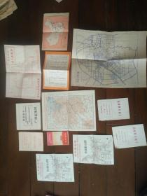 文革色彩浓厚 地图 都带毛主席语录 共计12张 合售 具体明细见描述 私藏品特别好