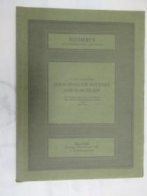 Sothebys Catalogue of Good English Pottery and Porcelain(苏富比英国陶瓷和瓷器目录)